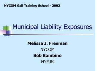 Municipal Liability Exposures