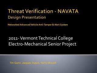 Threat Verification - NAVATA Design Presentation