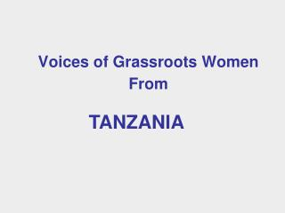 Voices of Grassroots Women From