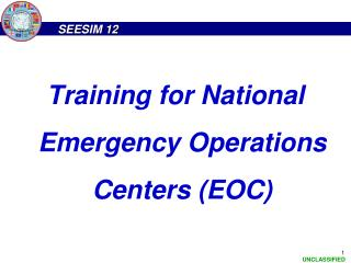 Training for National Emergency Operations Centers (EOC)