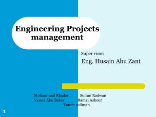 Engineering Projects     management