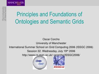 Principles and Foundations of Ontologies and Semantic Grids