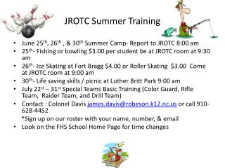 JROTC Summer Training