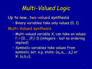 Multi-Valued Logic