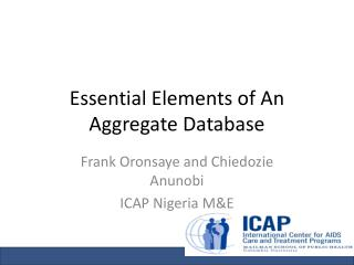 Essential Elements of An Aggregate Database
