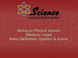 Writing an Effective Abstract Talking to Judges Rules Clarification: Question & Answer