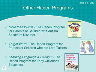 Other Hanen Programs