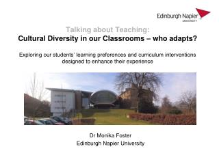 Dr Monika Foster Edinburgh Napier University