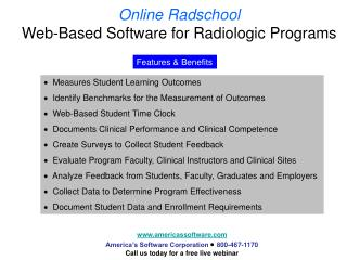 Online Radschool Web-Based Software for Radiologic Programs