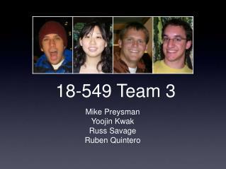 18-549 Team 3