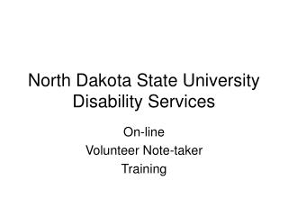 North Dakota State University Disability Services