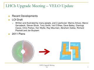 LHCb  Upgrade Meeting – VELO Update