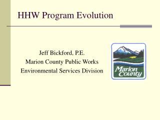 HHW Program Evolution
