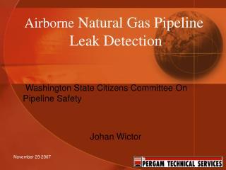 Airborne Natural Gas Pipeline  Leak Detection