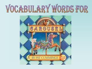 Vocabulary words for