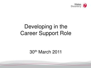 Developing in the Career Support Role 30 th  March 2011