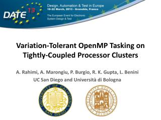 Variation-Tolerant OpenMP Tasking on Tightly-Coupled Processor Clusters