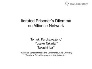 Iterated Prisoner's Dilemma on Alliance Network