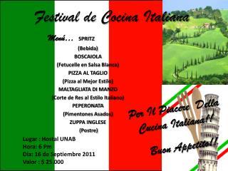 Festival de Cocina Italiana