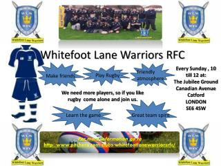 Whitefoot Lane Warriors RFC