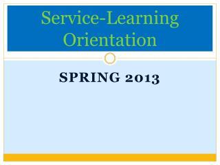 Service-Learning Orientation