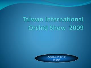 Taiwan International Orchid Show  2009