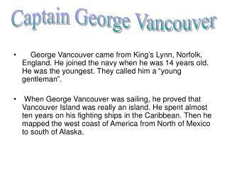 Captain George Vancouver