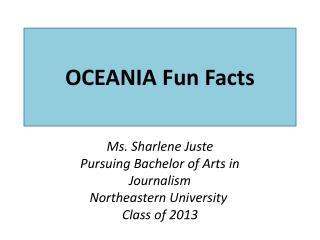 OCEANIA  Fun Facts