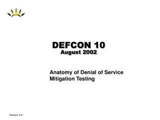 DEFCON 10 August 2002