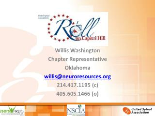Willis Washington Chapter Representative Oklahoma willis@neuroresources 214.417.1195 (c)