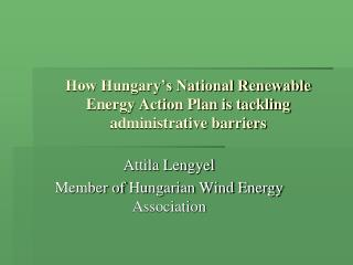How Hungary's National Renewable Energy Action Plan is tackling administrative barriers
