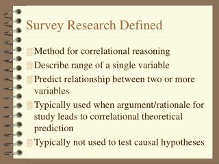 Survey Research Defined
