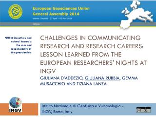 Istituto Nazionale di Geofisica e Vulcanologia - INGV, Roma, Italy
