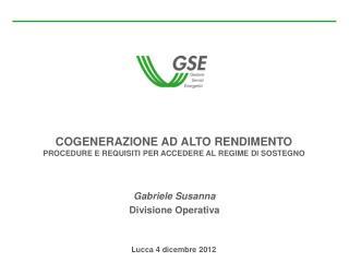 Gabriele Susanna Divisione Operativa