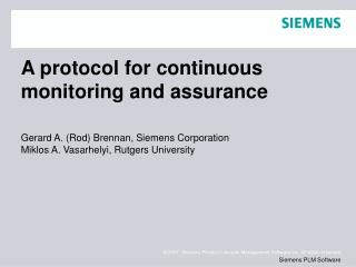 A protocol for continuous monitoring and assurance
