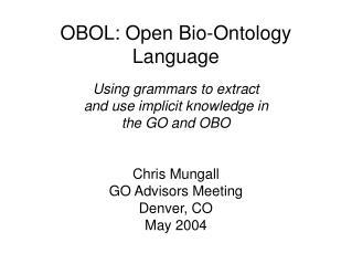 OBOL: Open Bio-Ontology Language