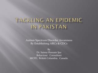 Tackling an Epidemic  in Pakistan
