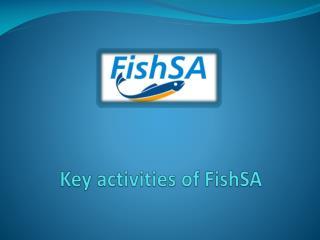 Key activities of  FishSA