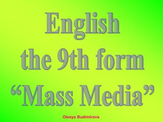 mass media lesson 8 form There are direct benefits of social media in the form  this picture went viral within forty minutes and was retweeted 18  social media has allowed for mass.