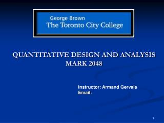 QUANTITATIVE DESIGN AND ANALYSIS   MARK 2048