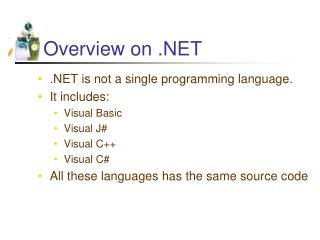 Overview on .NET