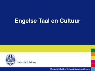 Engelse Taal en Cultuur
