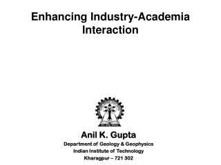 Enhancing Industry-Academia Interaction