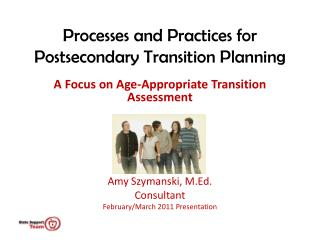 Processes and Practices for Postsecondary Transition Planning