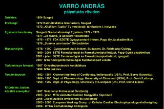 Születés:  1954 Szeged