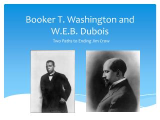 Booker T. Washington and W.E.B. Dubois