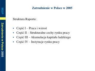 Zatrudnienie w Polsce w 2005