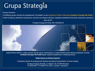 Fundacja �Strategia dla Polski��