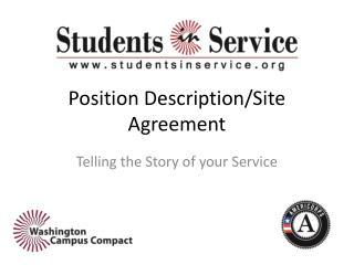 Position Description/Site Agreement