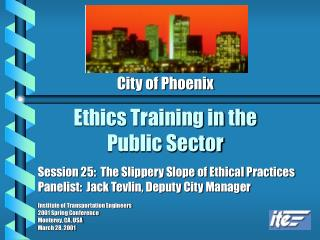 Ethics Training in the Public Sector